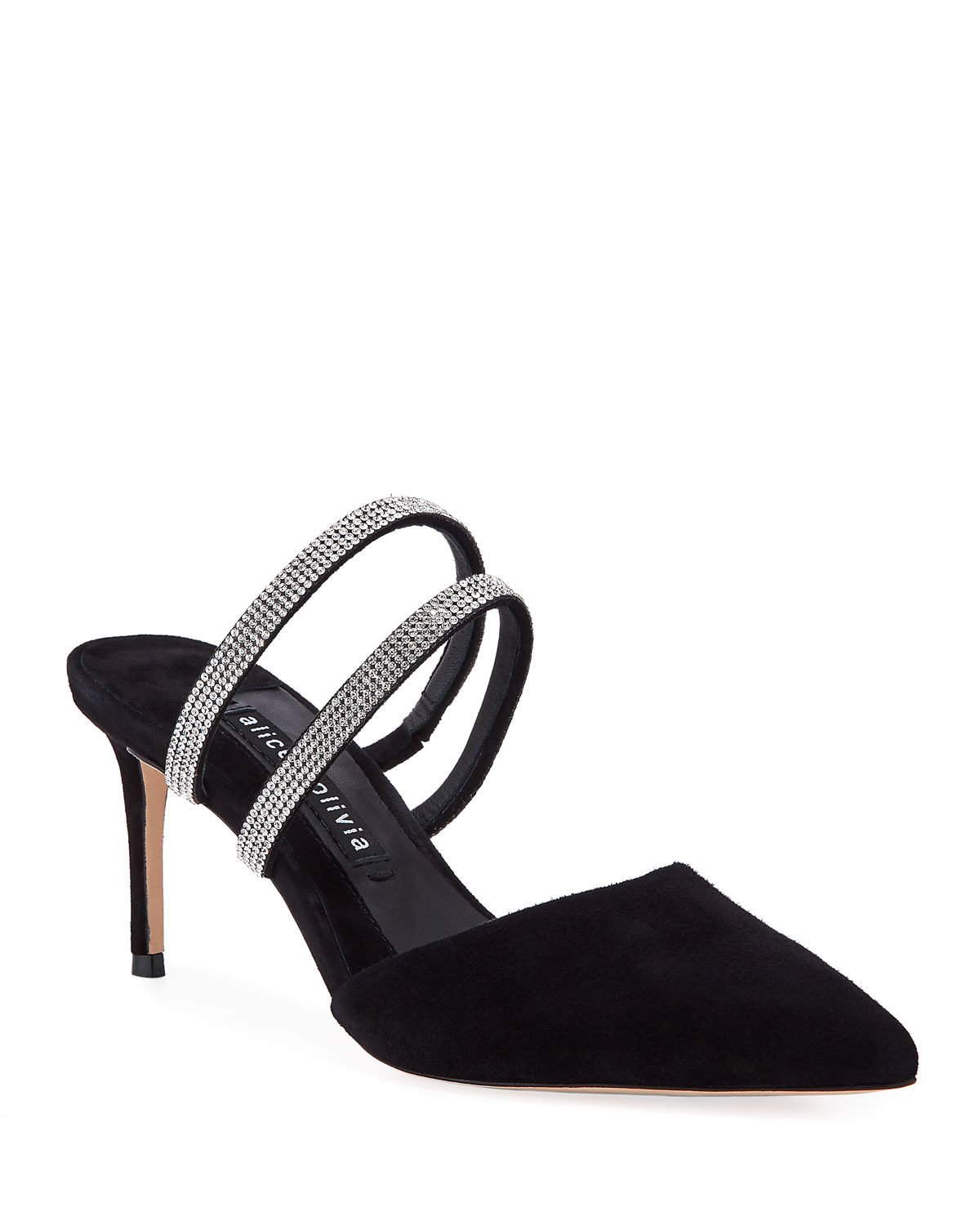 Marcile Stiletto Crystal Mules