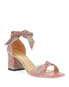 Alexandre Birman Clarita Python Ankle-Tie Sandals