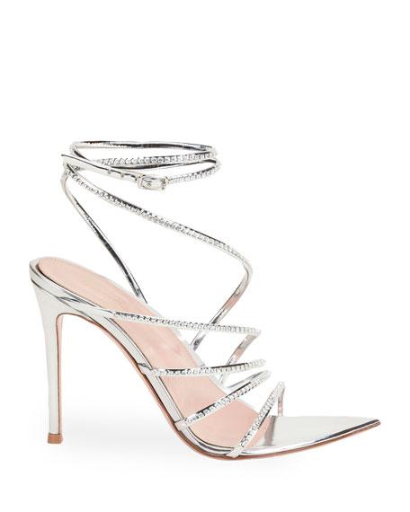 Gianvito Rossi 105mm Metallic Strappy Sandals