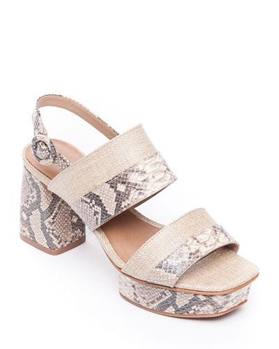 Racquel Snake-Print Sandals