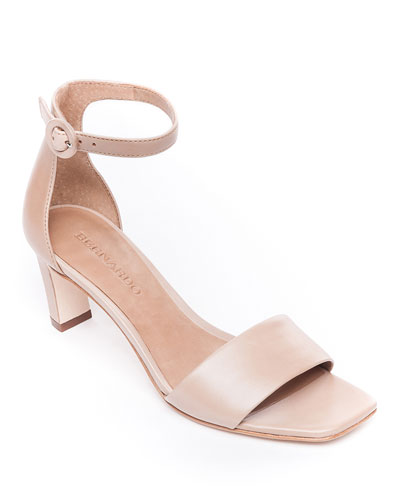 Cameron Ankle-Strap Leather Sandals