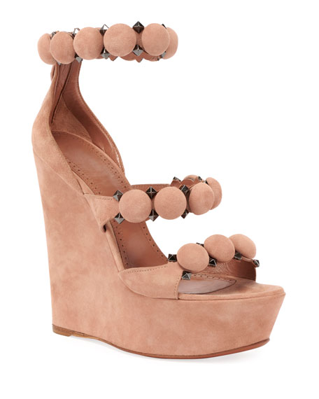 ALAIA Bombe Platform Wedge Sandals