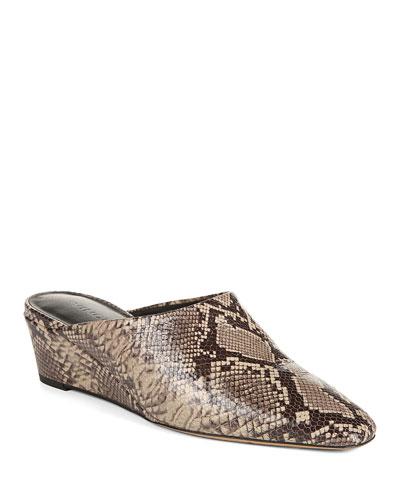 Neana Leopard Printed Hair On Leather Pointed Toe Kitten Heel | Heels | Wittner Shoes