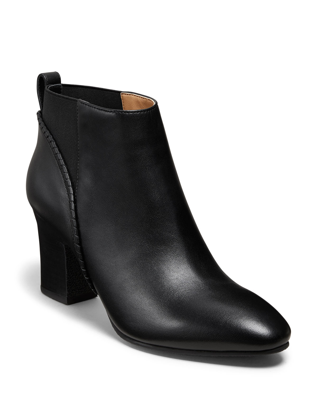 Jack Rogers Boots POPPY HIGH-HEEL LEATHER BOOTIES