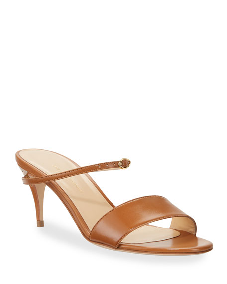 Jennifer Chamandi Andrea Capretto Leather Mule Sandals