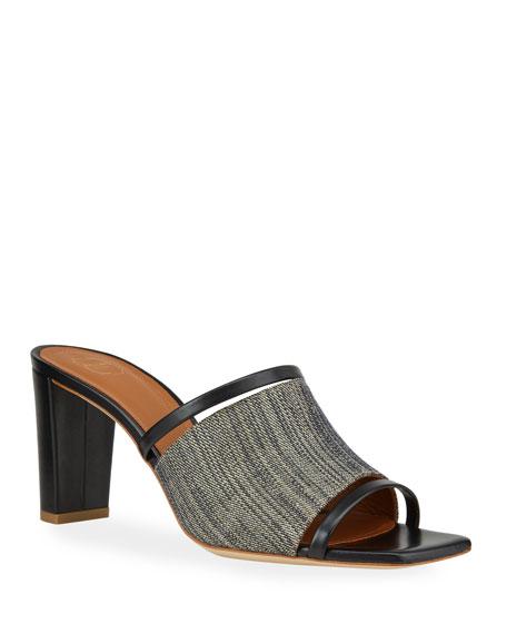 Malone Souliers Demi 70mm Raffia Mule Sandals