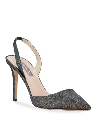 Size 3 Shoes Fuchsia Suede Glitter Peep Toe 1.5/'/' Platform 5/'/' Heel Glitter Sole