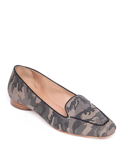 Edyth Camo Canvas Loafer Flats