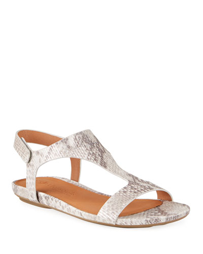 Lark T-Strap Leather Sandals