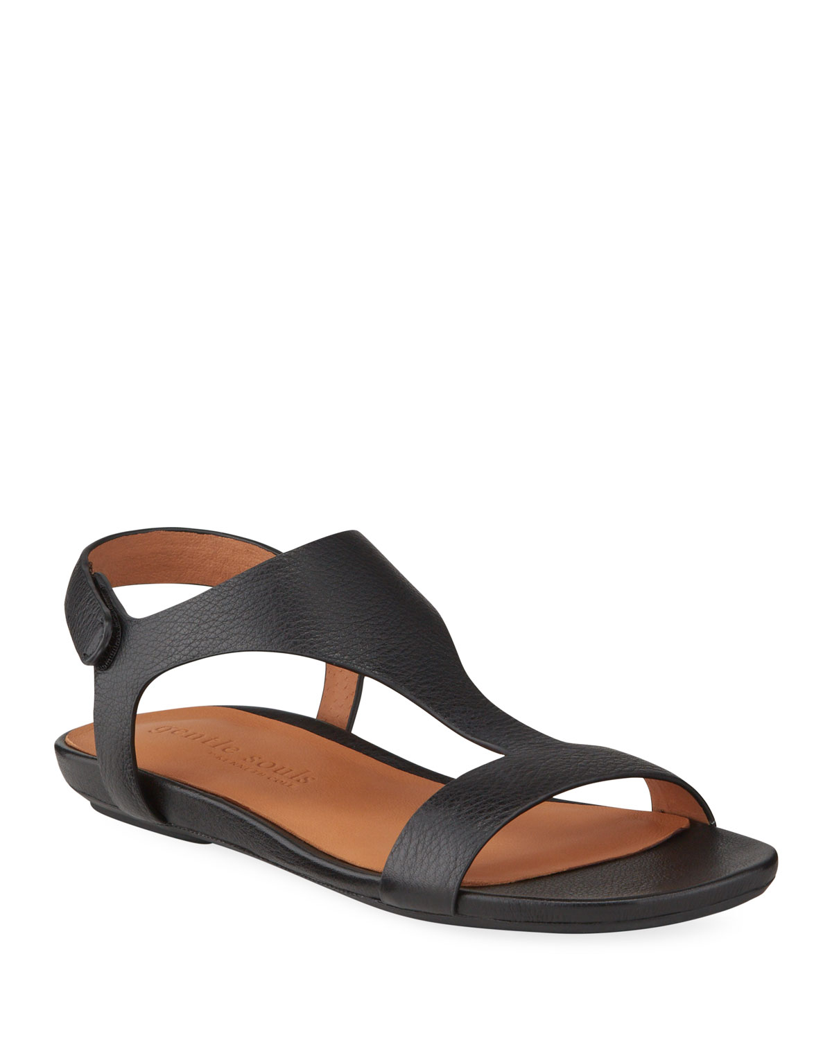 Gentle Souls Sandals LARK T-STRAP LEATHER SANDALS