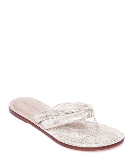 Bernardo Miami Lizard Thong Sandals