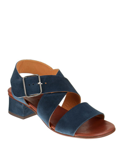 Qua-Israel Suede Strappy Ankle Sandals