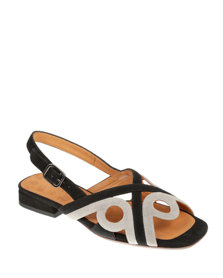 Chie Mihara Tabata Suede Cutout Sandals