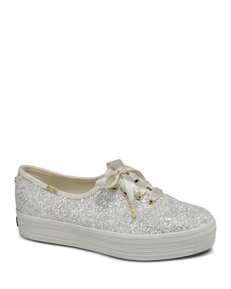 Keds  x kate spade triple glitter sneakers