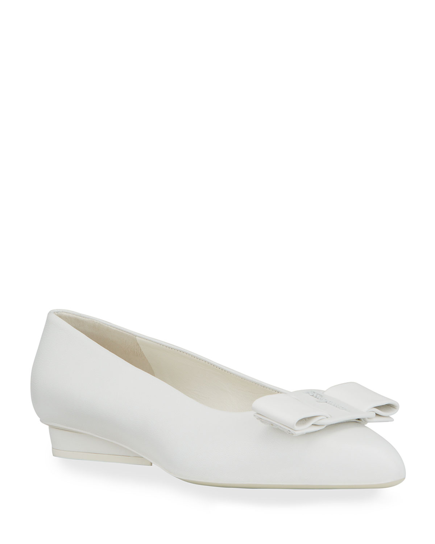 Viva Bow Pointed-Toe Ballet Flats