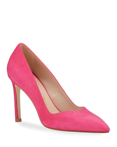 Anny Suede Stiletto Pumps, Peonia