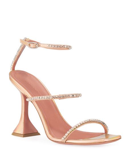 Amina Muaddi Gilda Crystal Embellished Sandals