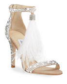 Jimmy Choo Viola Feather Tassel Cocktail Sandals