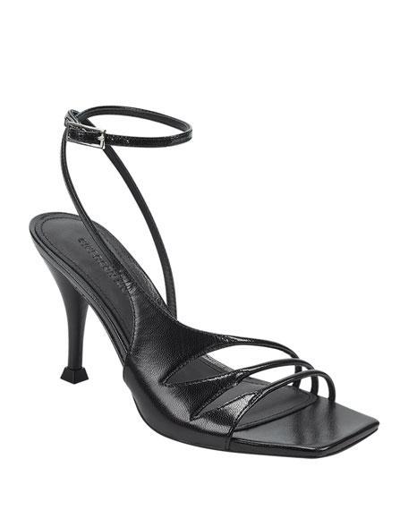 Sigerson Morrison Carissa Strappy Leather Ankle-Wrap Sandals