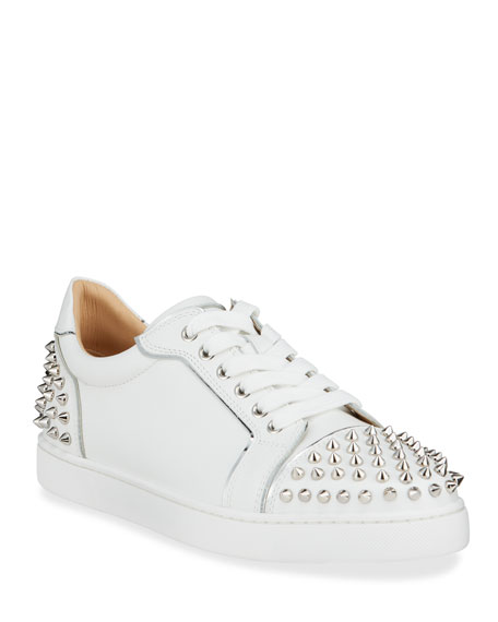 Christian Louboutin Viera 2 Spikes Leather Low-Top Sneakers