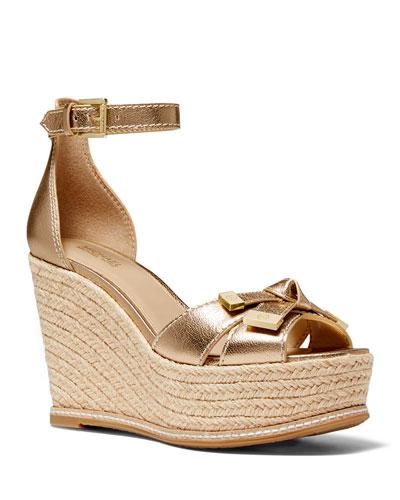 Ripley Metallic Bow Espadrille Sandals