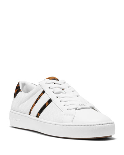 Irving Stripe Leopard-Print Sneakers