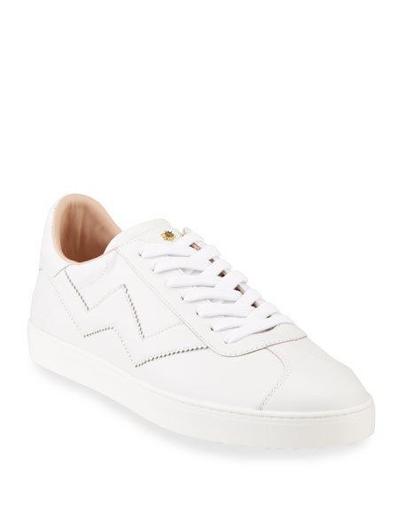 Stuart Weitzman Daryl Leather Low-Top Sneakers