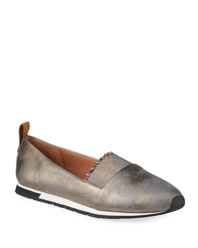 Roxanne Metallic Ruffle Slip-On Sneakers