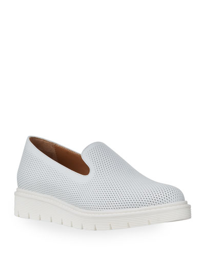 Kay Perforated Leather Loafers