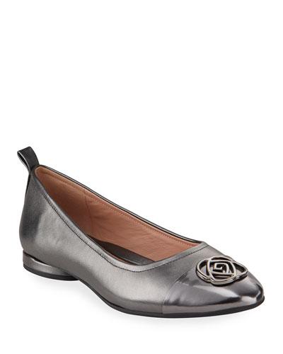 Phoebe Cap-Toe Ballet Flats