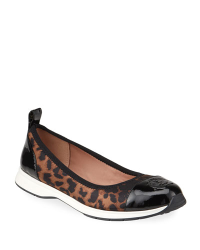 Bailey Patent Rose Leopard Ballet Sneakers