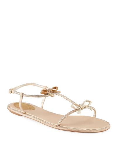 Ankle Strap Bow Sandal | Neiman Marcus