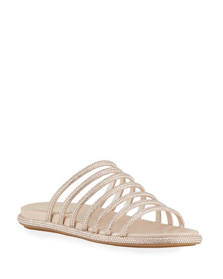 Rene Caovilla 25mm Flatform Multi-Strap Slide Sandals