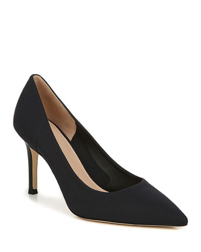 Cloe2 Pointed-Toe Leather Pumps