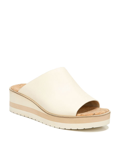 Vince Sarria Asymmetrical Leather Slide Sandals