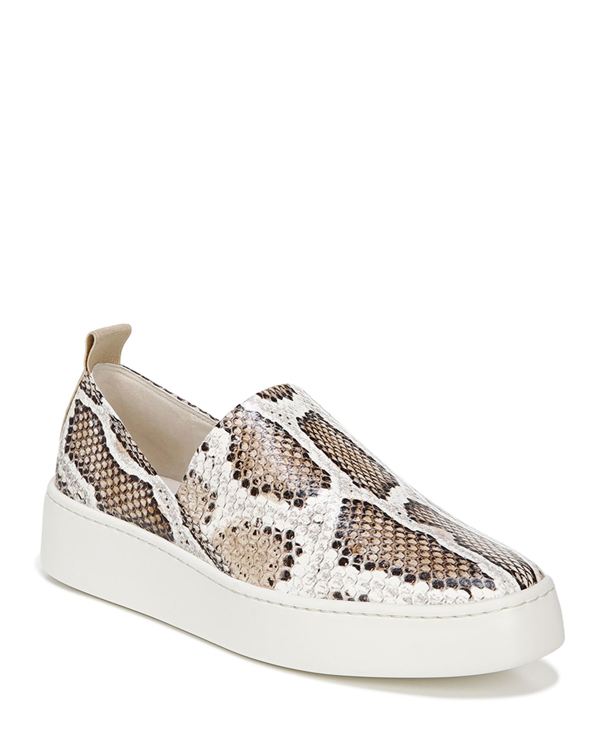 Vince Loafers SAXON SNAKE-PRINT LEATHER SLIDE SNEAKERS