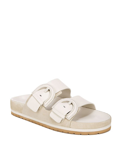 Glyn Dual Buckle Slide Sandals