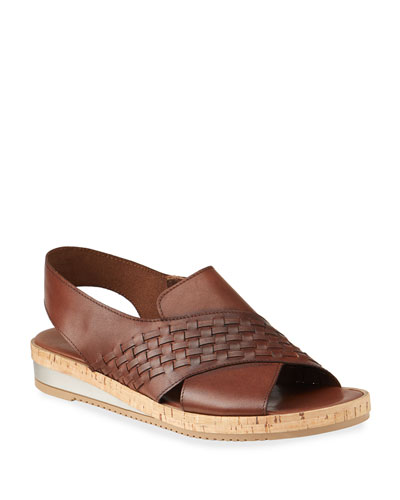 Sany Woven Leather Cork Sandals