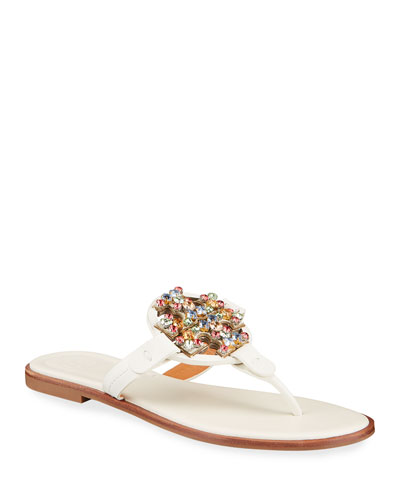 Miller Rainbow Crystal Flat Thong Sandals