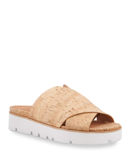 Gentle Souls Lavern X-Band Cork Slide Sandals