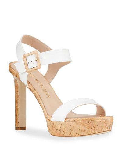 Alesha Patent Cork Platform Sandals