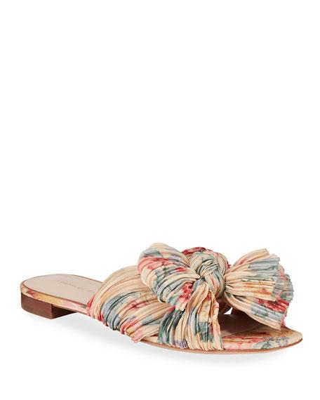 Loeffler Randall Daphne Knotted Bow Slide Sandals