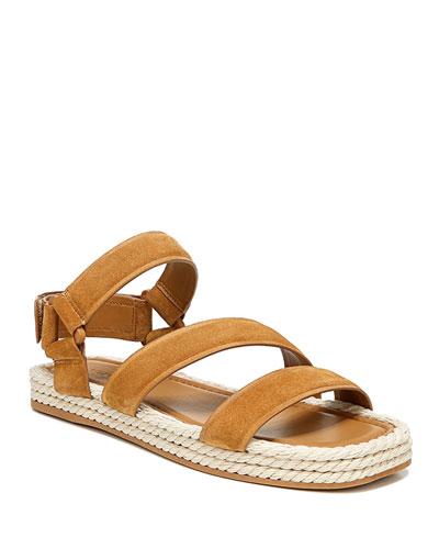 Elian Suede Flatform Sport Sandals
