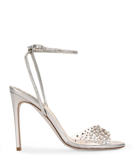 Rene Caovilla 105mm Strass Shimmery Cocktail Sandals