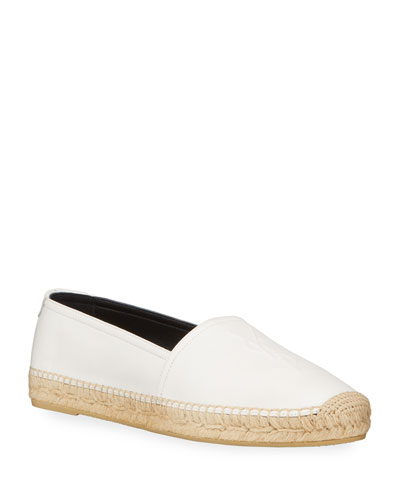 Monogram YSL Soho Leather Slip-On Espadrille Flats
