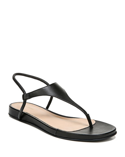 Pixey Flat Leather Thong Sandals
