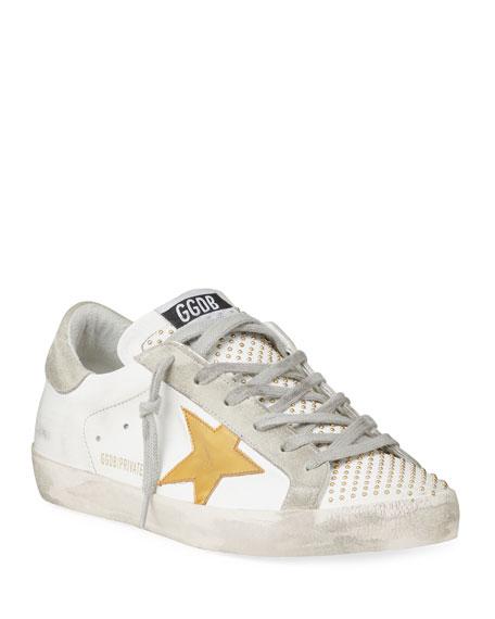 Golden Goose Superstar Beaded Leather Low-Top Sneakers