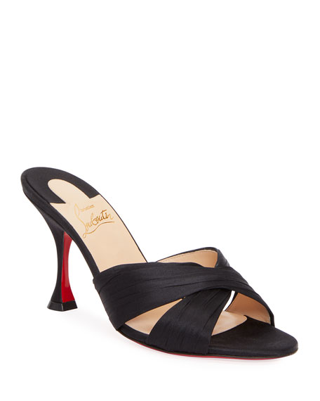 Christian Louboutin Nicol is Back Red Sole Slide Sandals