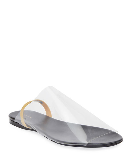 THE ROW Clear Sandals