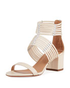 Aquazzura Ravello Three-Band Sandals